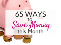 Spend less with these easy ways to save money!