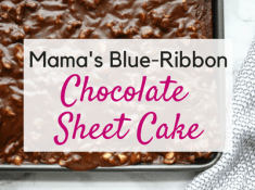 Chocolate Sheet Cake aka Texas Sheet Cake