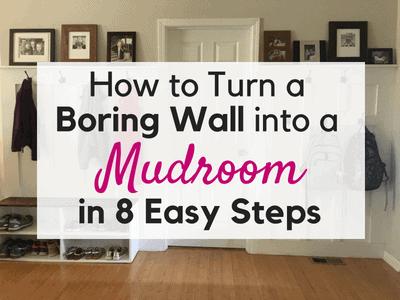 DIY:  Turn a Blank Wall into a MudRoom