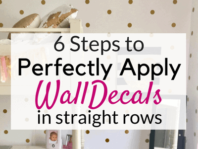 6 Steps to Perfectly Apply Wall Decals in Straight Rows