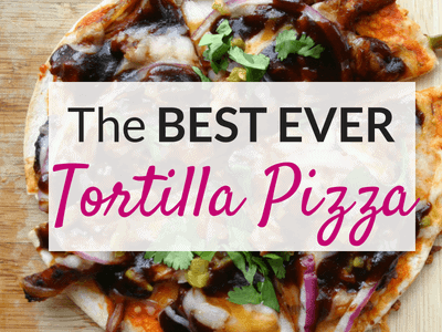 Tortilla Pizza!  All the Flavor with Less Carbs!