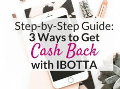 How to get cash back with Ibotta!