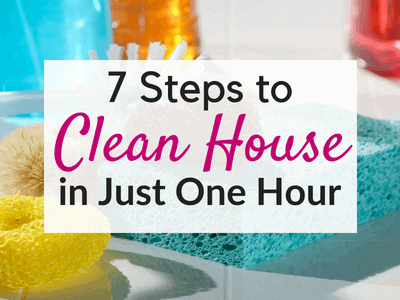 7 Steps to a Clean House in One Hour