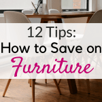 12 Tips to save money on furniture