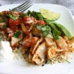 Low carb cauliflower rice recipes - Mexican fajita chicken over cauliflower rice!
