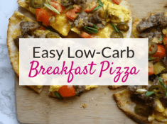 These are so good! Try these low carb breakfast pizzas for a healthy easy breakfast idea! Add this to my list of yummy low carb breakfast recipes!
