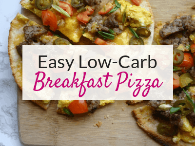 Delicious and Easy Low Carb Breakfast Pizzas