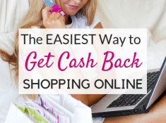 Want to find out how to get cash back on online purchases with just one click of the mouse? Check out this Ebates review and learn how easy it is to earn cash back for shopping online! Get a cash back rebate for buying things that you would have bought anyway. Is Ebates a scam? Click here to find out!