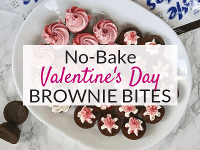 Easy No-Bake Valentine's Brownies for Kids