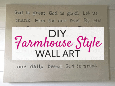 Easy Large DIY Wall Art Using Drop Cloths